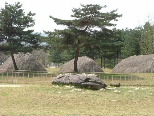 Dolmen with Huts
