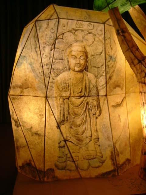 Stone Buddha Lantern